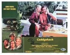 Chevy Chase Caddyshack Signed 11X14 Lobby Card Photo BAS Witnessed 3