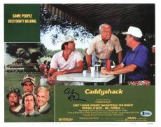 Chevy Chase Caddyshack Signed 11X14 Lobby Card Photo BAS Witnessed 1