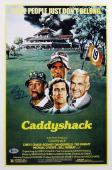 Chevy Chase Caddyshack Signed 12x18 Mini Movie Poster BAS Witnessed