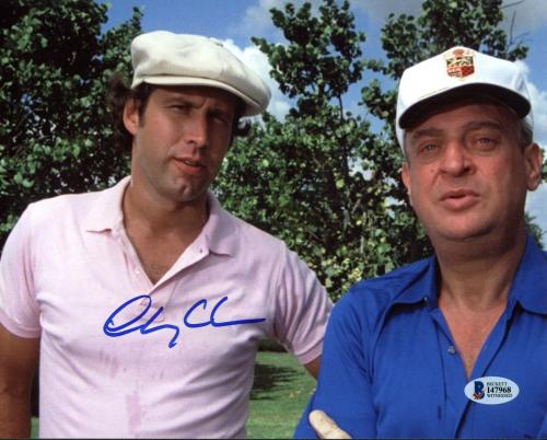 Chevy Chase Caddyshack Signed 8X10 Photo Autographed BAS Witnessed 10