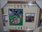 Chevy Chase Caddyshack Signed Autographed Double Matted & Framed Jsa Coa Rare