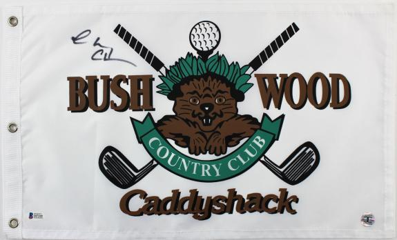 Chevy Chase Caddyshack Signed Bushwood Country Club Flag BAS Witnessed #I47118