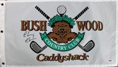 Chevy Chase Caddyshack Signed Bushwood Country Club Flag PSA/DNA ITP