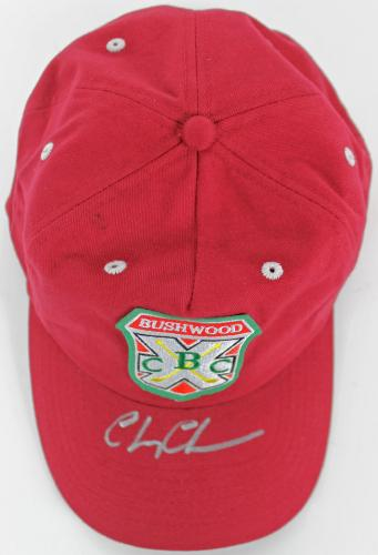 Chevy Chase Caddyshack Signed Bushwood Country Club Red Hat PSA ITP