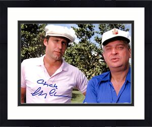Chevy Chase Caddyshack Signed (x2) 11x14 Photo BAS Witnessed #M52630