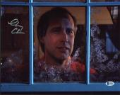 Chevy Chase Christmas Vacation Signed 11X14 Photo BAS Witnessed 2