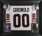 Chevy Chase Christmas Vacation Signed & Framed Griswold Jersey BAS