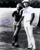 Chevy Chase & Cindy Morgan Autographed Caddyshack 16x20 B&W Photo
