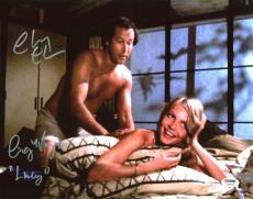 """Chevy Chase & Cindy Morgan Caddyshack """"Lacey"""" Signed 11X14 Photo PSA/DNA 7A92937"""