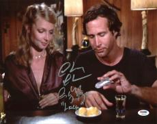 """Chevy Chase & Cindy Morgan Caddyshack """"Lacey"""" Signed 11X14 Photo PSA/DNA 7A92938"""