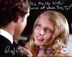 Chevy Chase & Cindy Morgan Caddyshack Signed 8X10 Photo BAS Witness 3