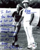 Chevy Chase & Cindy Morgan Caddyshack Signed 8X10 Photo BAS Witness 1
