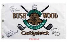 Chevy Chase, Cindy Morgan & Michael O'Keefe Autographed Bushwood Golf Flag