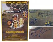 Chevy Chase, Cindy Morgan & Michael O'Keefe Cast Signed Caddyshack 24x36 Movie Poster w/Lacey & Noonan