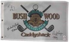 Chevy Chase, Cindy Morgan & Michael O'keefe Signed Caddyshack Flag 19904 Jsa