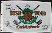 Chevy Chase, Cindy Morgan & Michael O'Keefe Signed Caddyshack Flag PSA/DNA