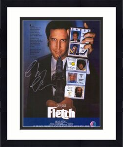 "Chevy Chase Fletch Autographed 11"" x 14"" Movie Poster"