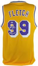 """Chevy Chase """"Fletch Griswold"""" Signed Yellow Fletch Jersey PSA/DNA ITP #7A92176"""