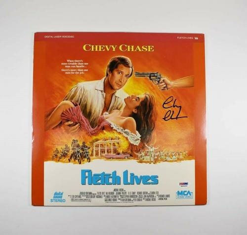 Chevy Chase Fletch Lives Autographed Signed LaserDisc Certified PSA/DNA COA