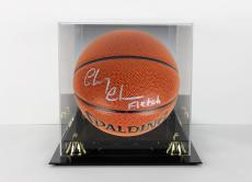 """Chevy Chase """"Fletch"""" Signed Basketball w/ Case Autographed PSA/DNA Itp"""