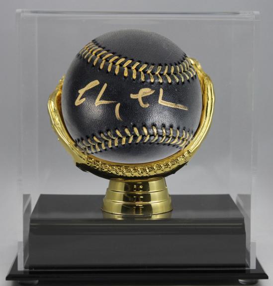 Chevy Chase Fletch Signed Black OML Baseball w/ Case PSA/DNA Itp