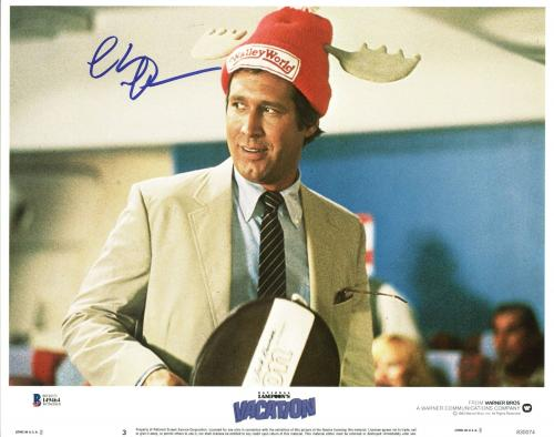 Chevy Chase Lampoon's Vacation Signed 11X14 Lobby Card BAS Witnessed #I49464