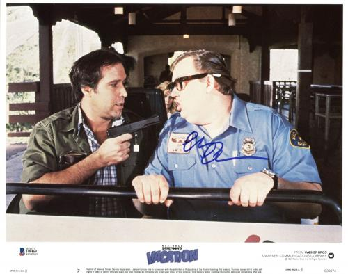 Chevy Chase Lampoon's Vacation Signed 11X14 Lobby Card BAS Witnessed #I49469