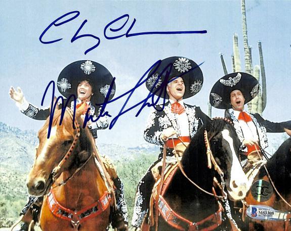 Chevy Chase & Martin Short Three Amigos! Signed 8x10 Photo BAS #M53308