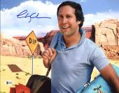 Chevy Chase National Lampoon's Vacation Signed 11X14 Photo BAS Witnessed 5