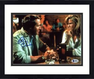 Chevy Chase National Lampoon's Vacation Signed 8X10 Photo BAS Witnessed 16