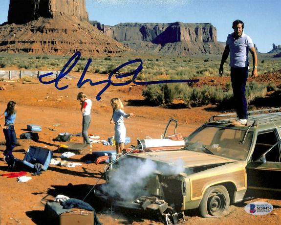 Chevy Chase National Lampoon's Vacation Signed 8x10 Photo BAS Witnessed 24