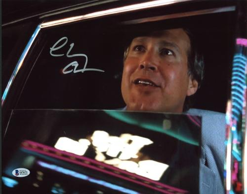 Chevy Chase National Lampoon's Vegas Vacation Signed 11X14 Photo BAS Witnessed 1