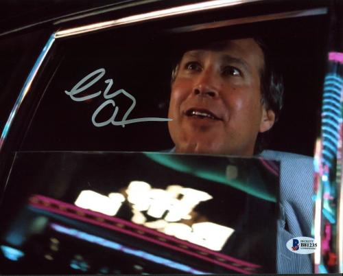 Chevy Chase National Lampoon's Vegas Vacation Signed 8X10 Photo BAS Witnessed 12