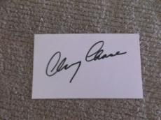 Chevy Chase Signed 3 X 5 Index Card *genuine* Autograph *in-person* Coa