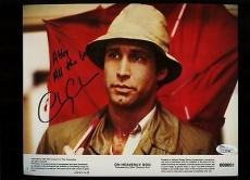 Chevy Chase Signed 8x10 Lobby Card Oh Heavenly Dog Movie#800091 Jsa Coa #l12194