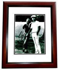 Chevy Chase Signed - Autographed CADDYSHACK 8x10 inch Photo MAHOGANY CUSTOM FRAME - Guaranteed to pass PSA or JSA