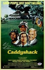 Chevy Chase Signed Caddyshack 11x17 Movie Poster - PSA/DNA