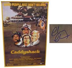 Chevy Chase Signed Caddyshack 24x36 F/S Movie Poster