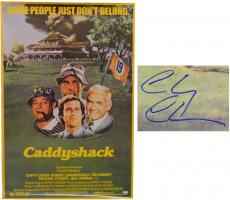 Chevy Chase Signed Caddyshack 24x36 Full Size Movie Poster