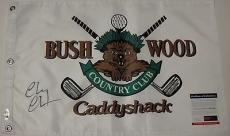 Chevy Chase Signed 'caddyshack''brushwood' Pin Flag Psa/dna Coa 5a83390