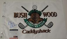 Chevy Chase Signed 'caddyshack''brushwood' Pin Flag Psa/dna Coa 5a83391