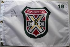 CHEVY CHASE SIGNED CADDYSHACK BUSH WOOD GOLF PIN FLAG Ty Webb ITP PSA/DNA B