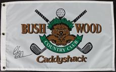 Chevy Chase Signed Caddyshack Bushwood Country Club Flag PSA/DNA