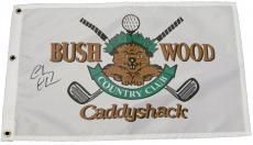 Chevy Chase Signed Caddyshack Bushwood Flag
