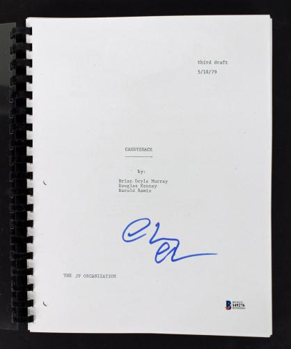 Chevy Chase Signed Caddyshack Movie Script BAS Witnessed #I49276
