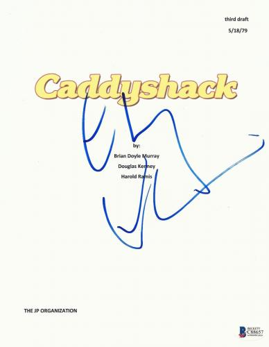 Chevy Chase Signed Caddyshack Script Full 138 Page Screenplay Beckett Bas