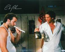 Chevy Chase Signed Caddyshack Smoking Up With Bill Murray 16x20 Photo