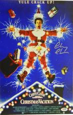Chevy Chase Signed Christmas Vacation 11x17 Movie Poster