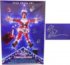 Chevy Chase Signed Christmas Vacation 27x40 Full Size Movie Poster