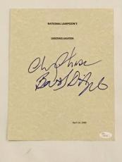 """Chevy Chase & Beverly D'angelo Signed """"christmas Vacation"""" Movie Script Jsa Coa"""